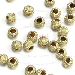 10x 14k Gold Filled Stardust BEAD Round 2.5mm