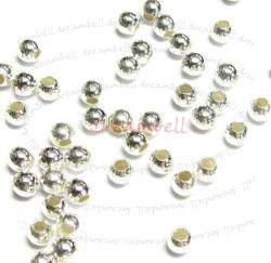 50x Sterling Silver seamless Round Spacer Beads 3mm