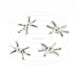 10x STERLING SILVER SNOWFLAKE BEADS SPACER 7.5MM