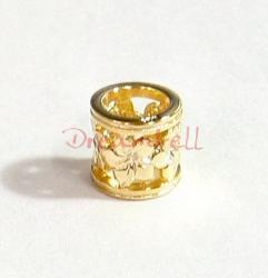 14K Real Gold Plated 925 Sterling Silver Flower Bead for European Charm Bracelets
