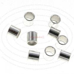 20x Large Sterling Silver Crimp round Tube Bead Spacer 3mm