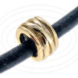 14k Gold on 925 Sterling Silver Round Spacer Bead Tube for European Charm Bracelets