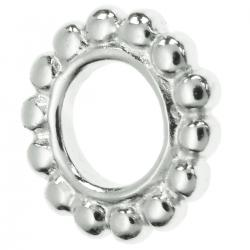STERLING SILVER ROUND DAISY BEAD for European Charm Bracelets