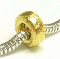 1x 14k Gold Silver Round Focal bead Spacer Tube 10mm for European Charm Bracelets
