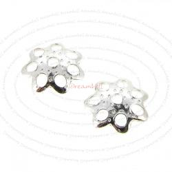 20 x Bali Sterling Silver Round Flower Caps Bead 5mm