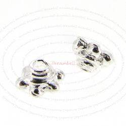 8X Bali Sterling silver Flower caps Bead 5mm