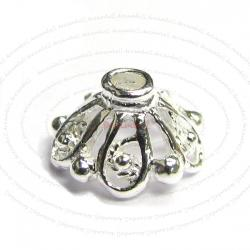 6x Sterling Silver Filigree Bead Round Caps 7.7mm
