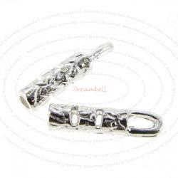 4 x STERLING SILVER CRIMP Bead 1mm LEATHER Cord END CAP