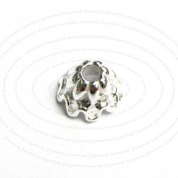 4x Sterling Silver Bead Flower Cone Cap 6.7m x 4.6mm