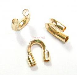 10x 14K Gold Filled Cable and Stringing Thimble Wire Guard (.021 Inch Hole)