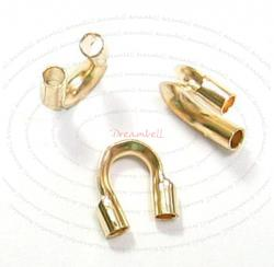 10x 14K Gold Filled Cable and Stringing Thimble Wire Guard (.031 Inch Hole)