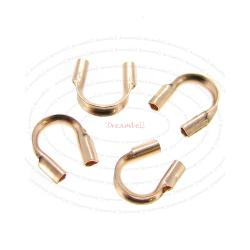10x 14k Rose Gold Filled Cable and Stringing Thimble Wire Guard (.021 Inch Hole)